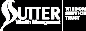 sutter wealth management white logo